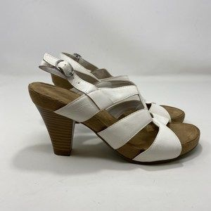 Aerosoles Women's White Heel Sandals Size 9 (A141)